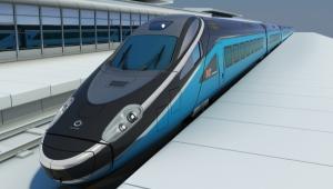 Pociąg Pendolino niebieski w brawach PKP INTERCITY.  Fot. Alstom Transport
