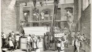 Robotnicy w fabryce, ilustracja opublikowana w Journal Universel w 1863 r.