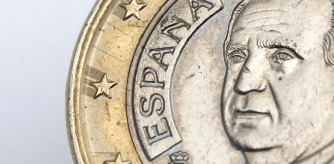 Moneta z wizerunkiem króla Hiszpanii Juana Carlosa
