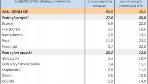Bezrobocie w kwietniu 2013 r. - WOJ. OPOLSKIE