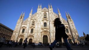 Katedra Duomo w Mediolanie, Włochy. 15.03.2012