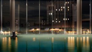 Złota/Apartamentowiec Złota, basen na 8 piętrze