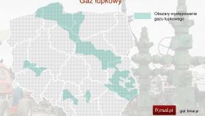 Obszary występowania gazu łupkowego