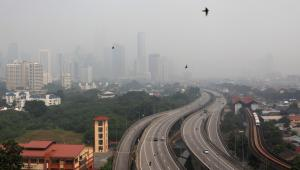 Kuala Lumpur spowite smogiem