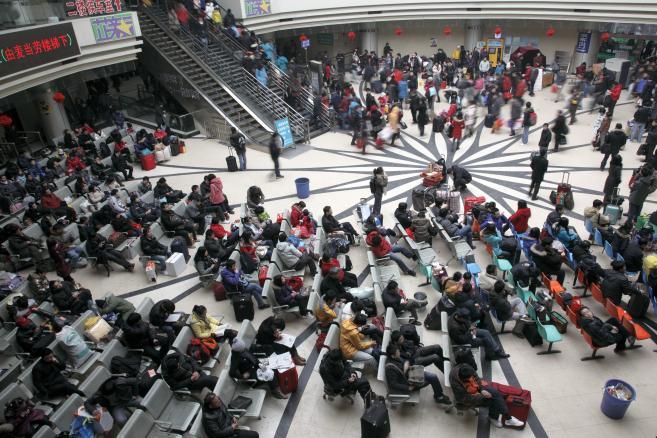 Chiny, Szanghaj, dworzec autobusowy