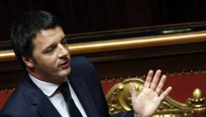 Matteo Renzi, premier Włoch podczas wystąpienia w Senacie, 24.02.2014.