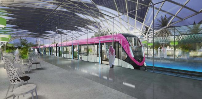 Projekt metra dla Rijadu. Fot. Alstom