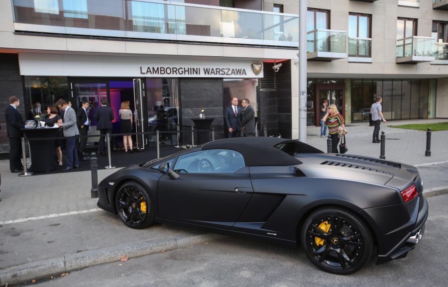Otwarcie Pierwszego Salonu Lamborghini W Polsce ZdjĘcia Zdjęcie