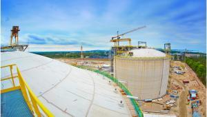 Terminal LNG, budowa - czerwiec 2014; fot. materiał prasowy Polskie LNG SA
