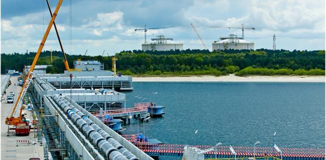 Terminal LNG, budowa - maj 2014; fot. materiał prasowy Polskie LNG SA
