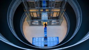 Walldorf, Niemcy. Nowoczesne lobby w siedzibie koncernu informatycznego SAP.
