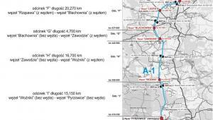 Autostrada A1 - odcinek I, źródło: GDDKiA
