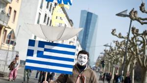 Protesty pod siedzibą EBC we Frankfurcie, 18.03.2015