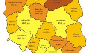Liczba bezrobotnych i stopa bezrobocia według województw