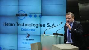 Prezes spółki Hetan Technologies SA Arno Sardelic podczas debiutu spółki Hetan Technologies SA na rynku NewConnect Giełdy Papierów Wartościowych w Warszawie, 15 bm. (mgo) PAP/Rafał Guz