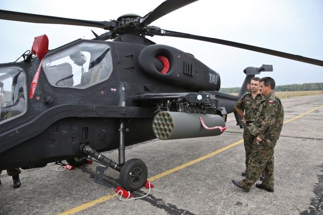Prezentacja śmigłowca szturmowego TAI T129 Atak  (ukit) PAP/Rafał Guz
