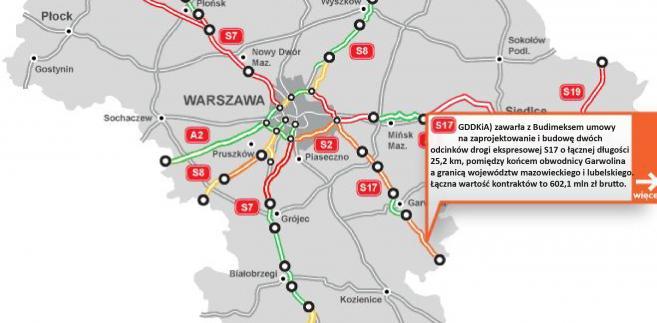 S17 - od Garwolina do granicy woj. mazowieckiego