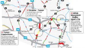 Braki w sieci autostrad w Polsce