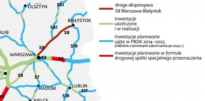 Droga ekspresowa S8 Warszawa Białystok