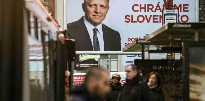 Kampania wyborcza Roberta Fico na Słowacji EPA/FILIP SINGER Dostawca: PAP/EPA.