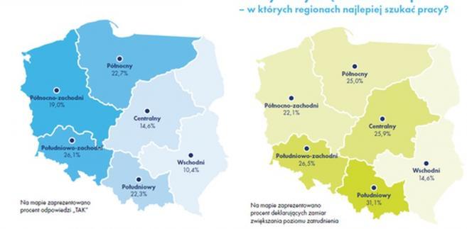 Rynek pracy: podział na Polskę A i B nadal aktualny, źródło: Work Service