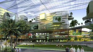Wizualizacja dzielnicy finansowej Króla Abdullaha w Rijadzie, fot. Henning Larsen Architects