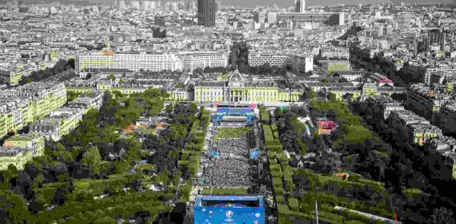 Paryż na dzień przed rozpoczęciem Euro 2016  EPA/CHRISTOPHE PETIT TESSON Dostawca: PAP/EPA.