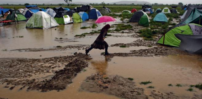 Obóz dla uchodźców na grecko-macedońskiej granicy KOSTAS TSIRONIS/REUTERS/FORUM
