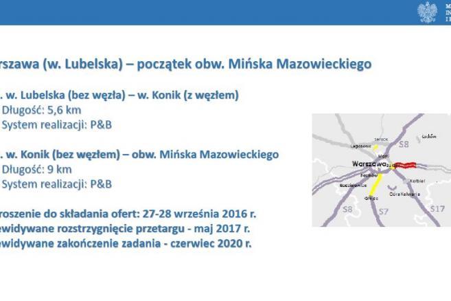 A2 Warszawa (w. Lubelska) – początek obw. Mińska Mazowieckiego