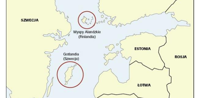 Gotlandia i Wyspy Alandzkie. Źródło: OSW