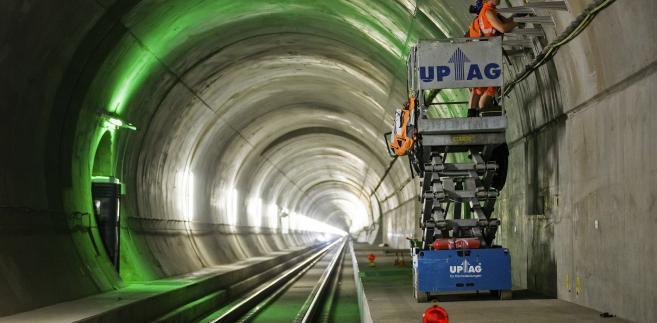 Nowy tunel Świętego Gotarda w trakcie budowy (15.07.2014, Bodio, Szwajcaria)