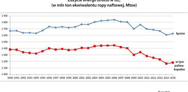 Zużycie energii brutto w UE