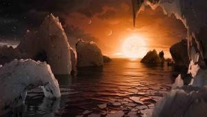 Układ TRAPPIST-1f - wizja artystyczna - materiały NASA