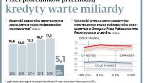 Przez pośredników przechodzą kredyty warte miliardy