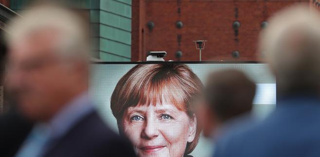 Plakat wyborczy Angeli Merkel w Niemczech, Hamburg, 20.09.2017