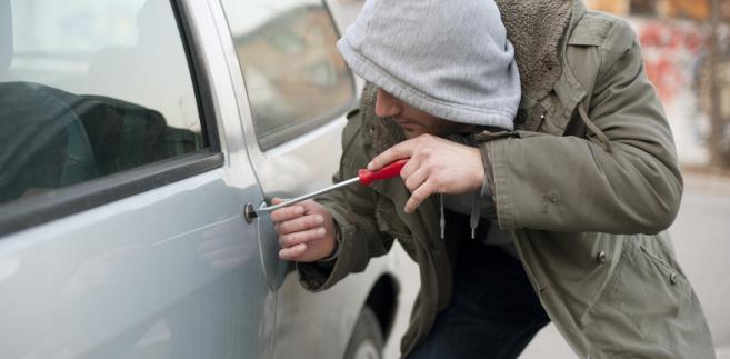 kradzież, auto, złodziej, samochód