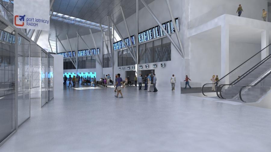 Hall główny przyszłego Portu Lotniczego Radom