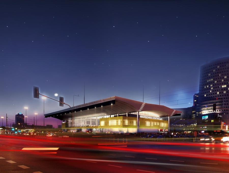 Dworzec Centralny w Warszawie po remoncie przed Euro 2012 - wizualizacja (2), fot. materiały prasowe PKP