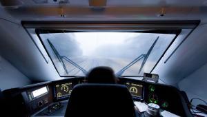 Pociąg Pendolino podczas bicia rekordu prędkości. Fot. Bartłomiej Banaszak/PKP Intercity