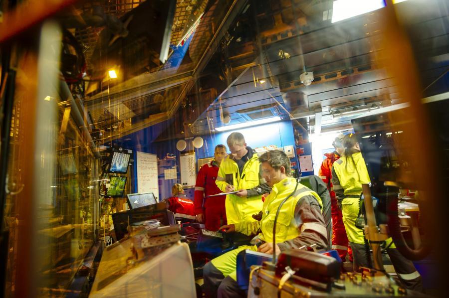 Platforma naftowa należąca do Statoila na Morzu Północnym
