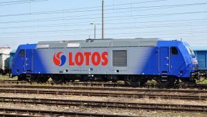 Bombardier TRAXX w Iławie w barwach Lotos Kolej (fot. MesserWoland)