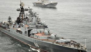 Rosyjski okręt Siewieromorsk, fot. U.S. Navy