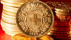 frank szwajcarski - monety