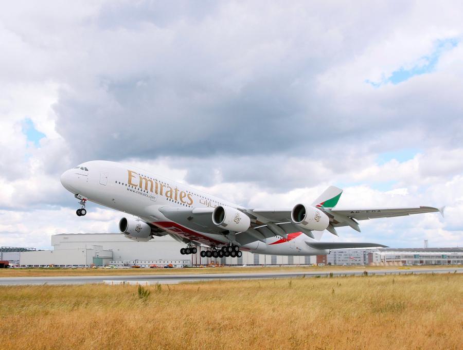 Airbus A380 należący do Emirates Airline, źródło: materiały prasowe