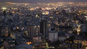 Teheran nocą. Iran, 25.08.2015