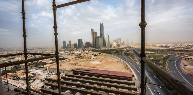Widok na Rijad, stolicę Arabii Saudyjskiej. 10.01.2016