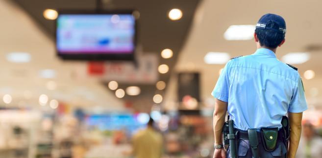 ochroniarz w sklepie