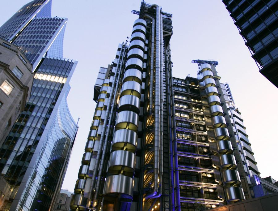 Lloyds of London to największa na świecie giełda ubezpieczeń.