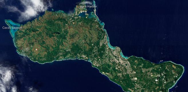 Wyspa Guam, na której znajdują się amerykańskie bazy wojskowe.