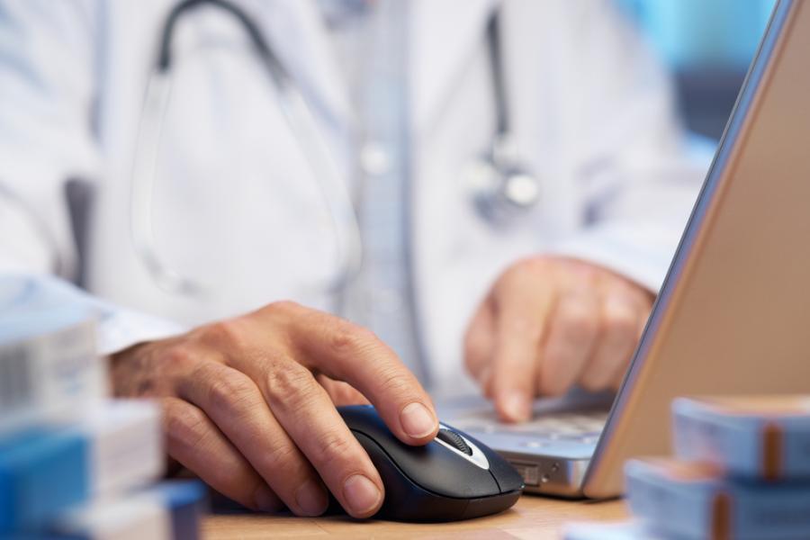 lekarz, komputer